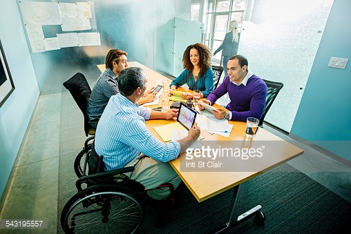 people sitting in board room